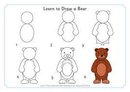 learn draw bear draw bears learning