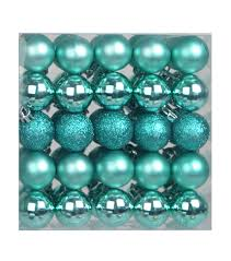 cheer shatterproof ornaments 30mm turquoise 50 joann