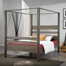 canopy beds furniture home design ideas mirrored modern four