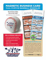 Magnetic Business Card Holder Dual Purpose Magnetic Baseball Schedule Business Card Holders