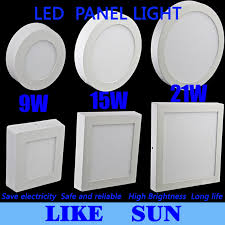 free shipping 9w 15w 21w square led panel light surface