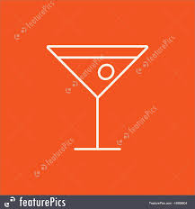 cocktail icon vector cocktail glass line icon illustration
