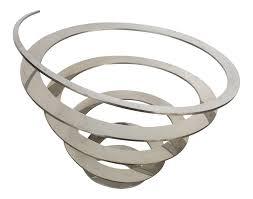 modern fruit bowl danish modern steel swirl fruit bowl centerpiece chairish