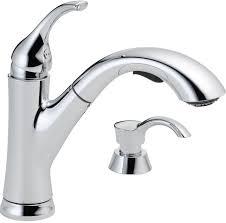 delta kessler chrome 1 handle pull out deck mount kitchen faucet