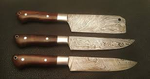 damascus steel kitchen knives troy blades shop made damascus steel kitchen knives set
