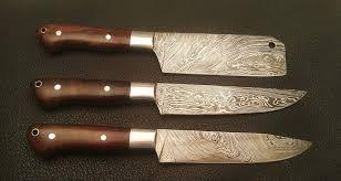 made kitchen knives troy blades shop made damascus steel kitchen knives set