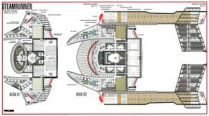 Millennium Falcon Floor Plan by Star Trek Blueprints Steamrunner Class Starship Prototype Nx 52000