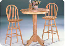 Oak Bar Table Pub Height Or Counter Height Dining And Kitchen Table Sets And