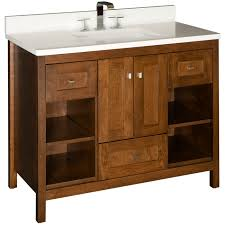 bathroom white strasser woodenworks with waterstone faucets and