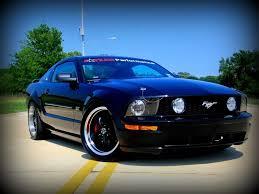 Mustang With Black Rims Mustang Deep Dish Bullitt Black Wheel 19x10 05 14 Gt V6