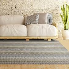 Berber Throw Rugs Multi Colored Pencil Striped Loop Pile Berber Carpet Non Skid