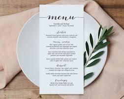 wedding menu template wedding menu printable template printable menu menu template