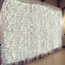 Christmas Lights Behind Sheer Curtain Amazon Com Ucharge 29v 300led Window Curtain Icicle Light With 8