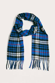 uo blue plaid scarf outfitters