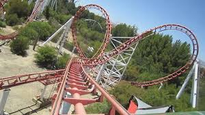 six flags magic mountain viper front seat on ride hd pov six flags magic mountain youtube
