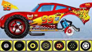 monster truck lightning mcqueen cartoons videos children