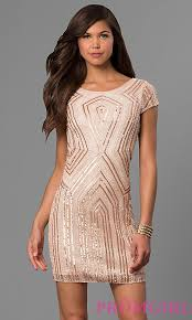 gold party dress sleeved bead and sequin party dress promgirl