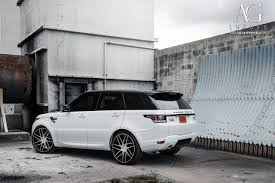 white land rover black rims ag luxury wheels range rover sport forged wheels
