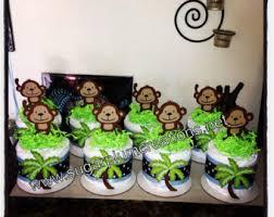 monkey baby shower decorations monkey centerpiece etsy