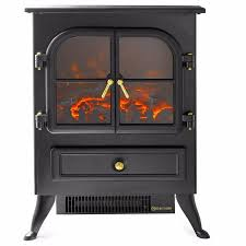 wood log 16 electric fireplace 1500w free standing heater glass