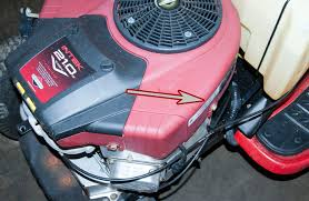 where to find the model and serial number on a troy bilt rider
