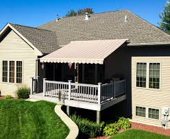 retractable deck u0026 patio awnings garage door service sales and