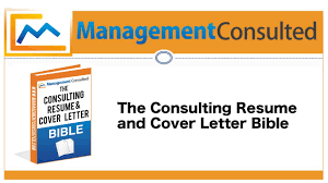 consulting resume and cover letter bible info video youtube