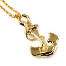 aliexpress buy nyuk new fashion american style gold nyuk vintage navy anchor necklace women men hip hop fashion jewelry