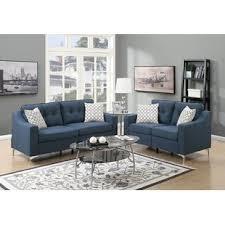 Living Room Blue Sofa Blue Living Room Sets You Ll Wayfair