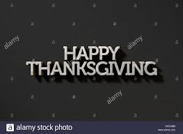 thanksgiving phrase a 3d render of metal extruded text spelling out the phrase happy
