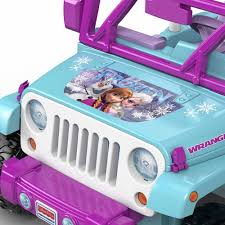 jeep rubicon 2017 pink power wheels disney frozen jeep wrangler 12 volt battery powered