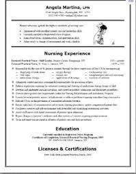 Sample Resume For Nanny by Take Resume Nurse Sample Resume