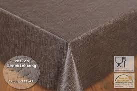 meterware stoff teflon tischdecke stoff meterware lotuseffekt matrix braun b