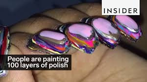 People Painting by People Are Painting 100 Layers Of Polish On Their Nails Youtube