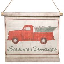 vintage red truck with christmas tree banner ebay