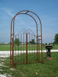 gorgeous garden arbor with gate within marvelous wrought iron