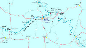 Map Missouri Canoe Missouri Jacks Fork River Float Camp Fishing Vacation In