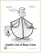 free bible coloring joseph u0027s coat colors
