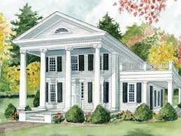 revival house plans small design best antebellum classical