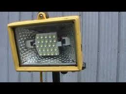 110v led work light 12v led pole work lights conversion youtube