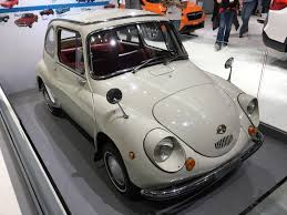 subaru 360 pickup not a mini van the crossover gets noticed at the la auto show
