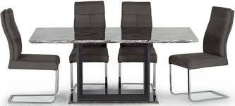 grey marble dining table buy vida living donatella grey marble dining table 160cm online
