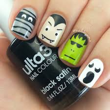 picture 3 of 5 cute easy halloween nail designs 2016 photo robin