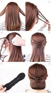 Hochsteckfrisurenen Selber Machen Mittellange Haar Einfach by Süße Flechtfrisuren Mit Clip In Haarverlängerungen Anleitung