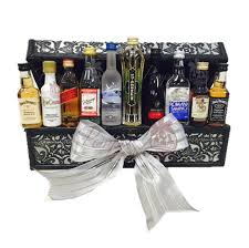 liquor gift baskets the executive mini bar gift basket by pompei baskets