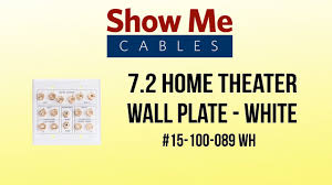home theater wall plates 7 2 home theater wall plate white youtube