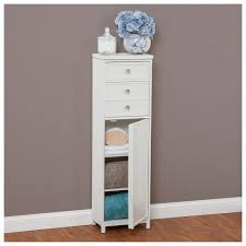 Bathroom Storage Cabinets With Drawers Modern Bathroom White Floor Standing Storage Cabinet Unitwhite At