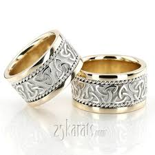 celtic wedding ring sets celtic wedding band sets his and hers wedding bands matching