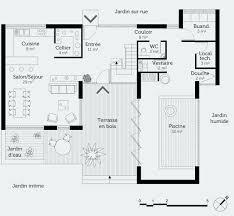 plan maison etage 3 chambres plan maison etage 4 chambres gratuit génial plan maison plain pied 2
