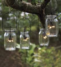 Cheap Patio String Lights 10 Ideas For Outdoor Mason Jar Lights To Add A Romantic Glow To
